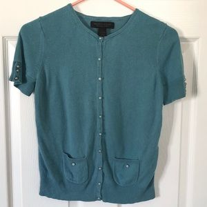 🏈Express teal silk/cashmere blend sweater sz. M